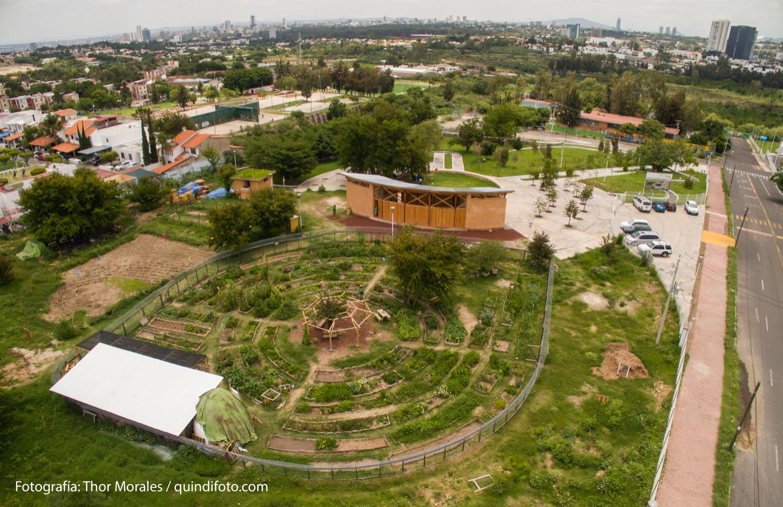 Vista aérea norte Parque Agroecológico Zapopan. Foto: Thor Morales