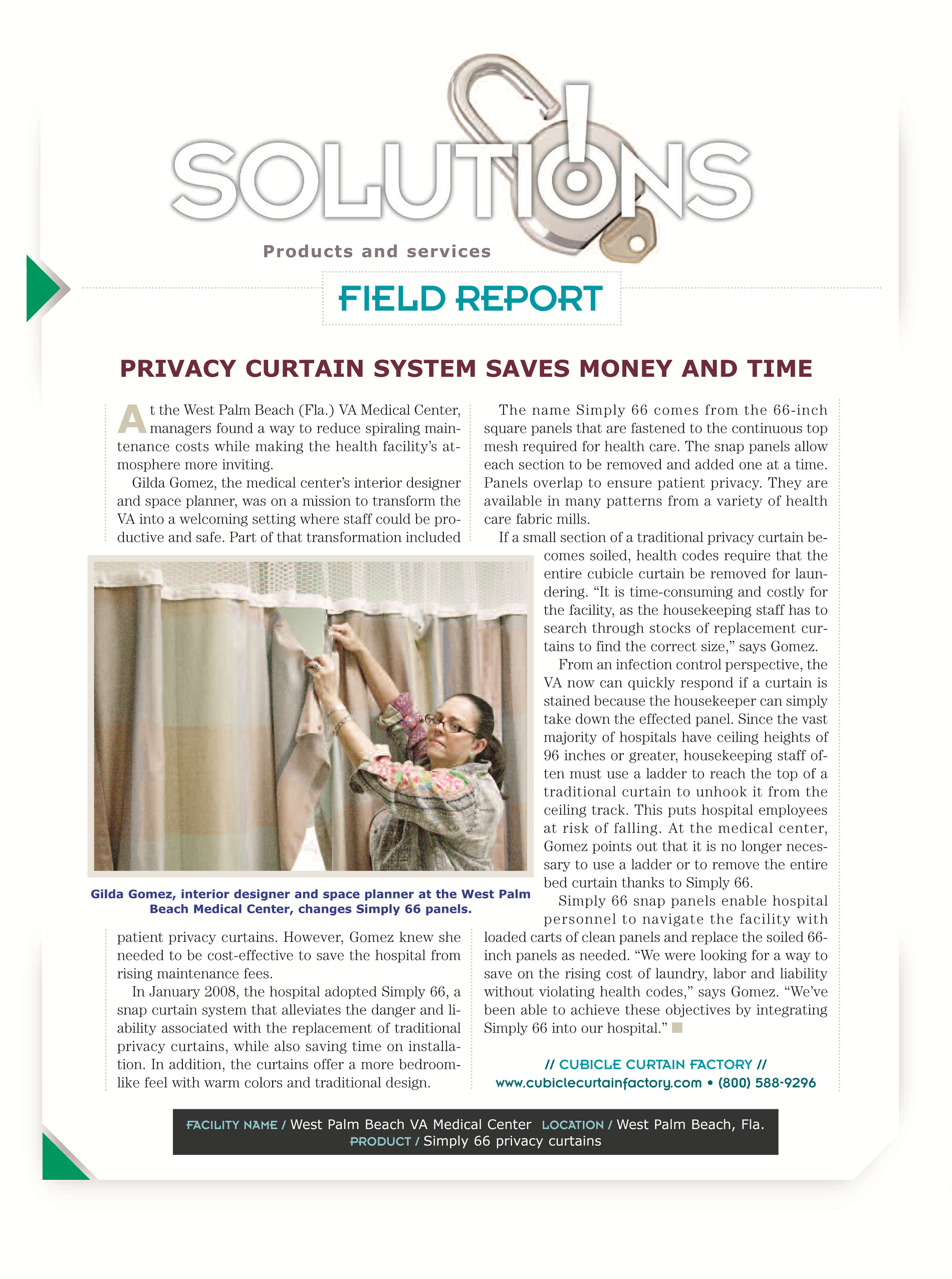 Curtain Solutions Article 2008