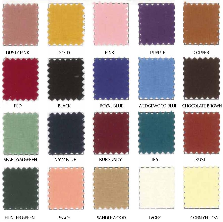 spun poly color card