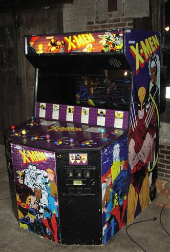 Konami's X-Men arcade game, the only six-player cabinet I've ever seen.
