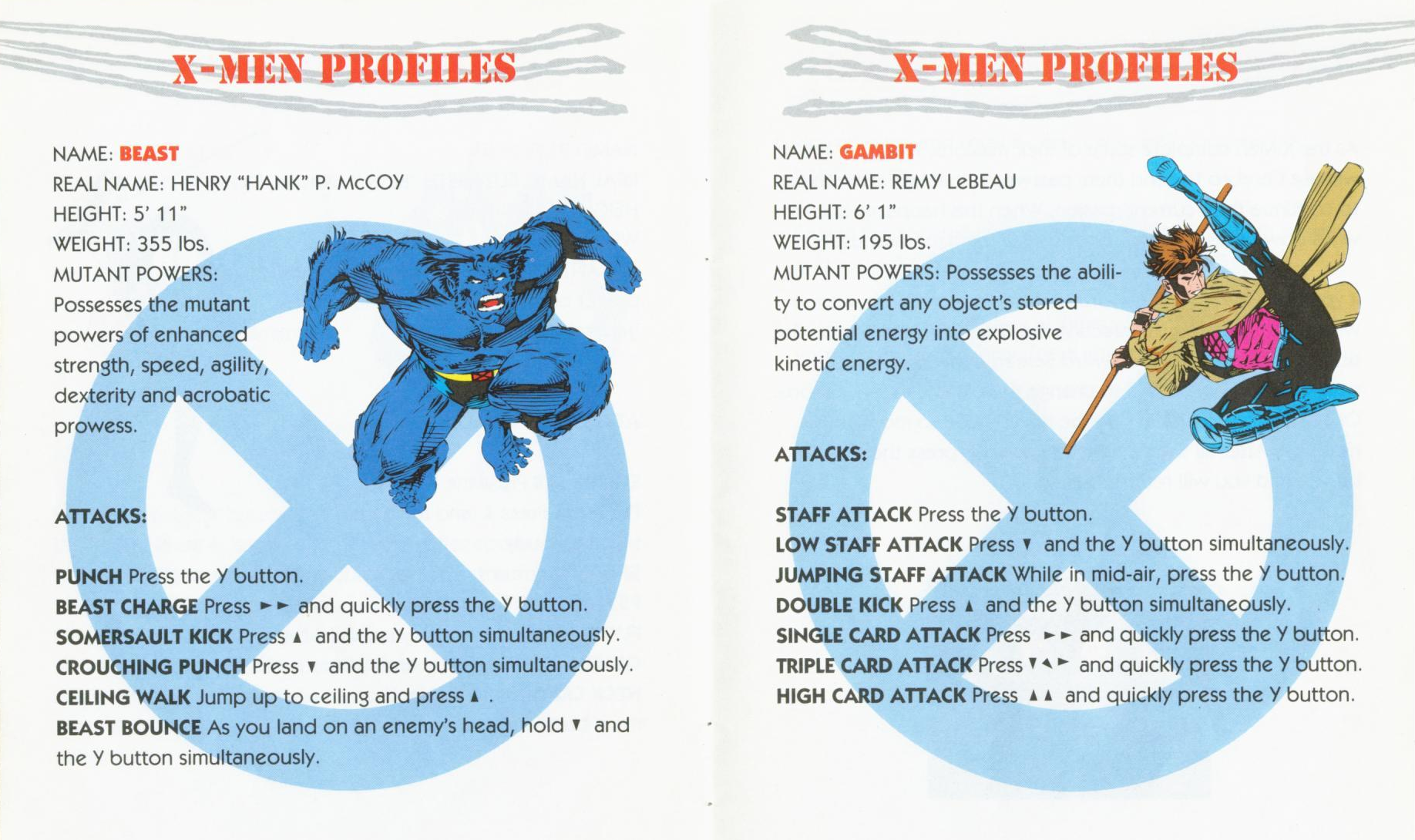 A selection from the X-Men: Mutant Apocalypse instruction manual.
