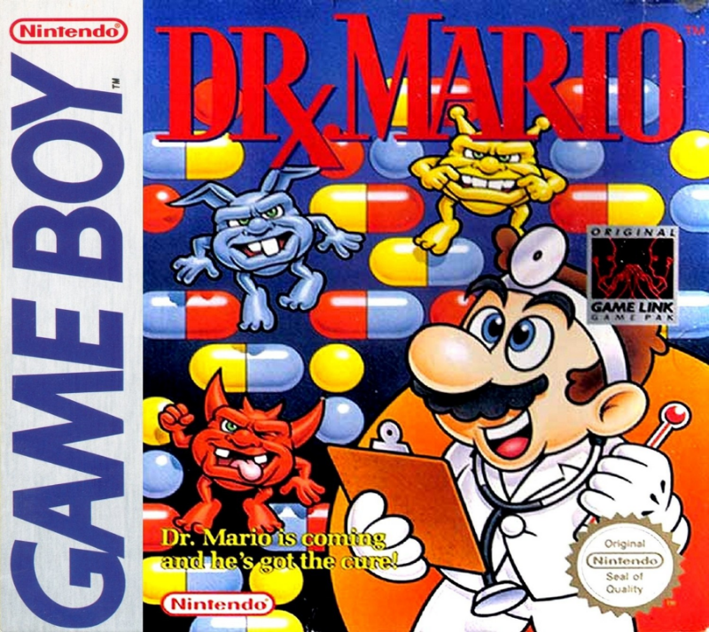 DrMario GameBoy boxart