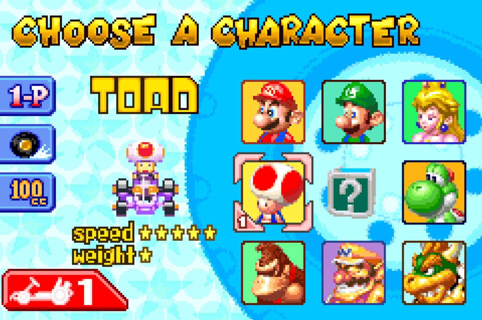 Choose A Character