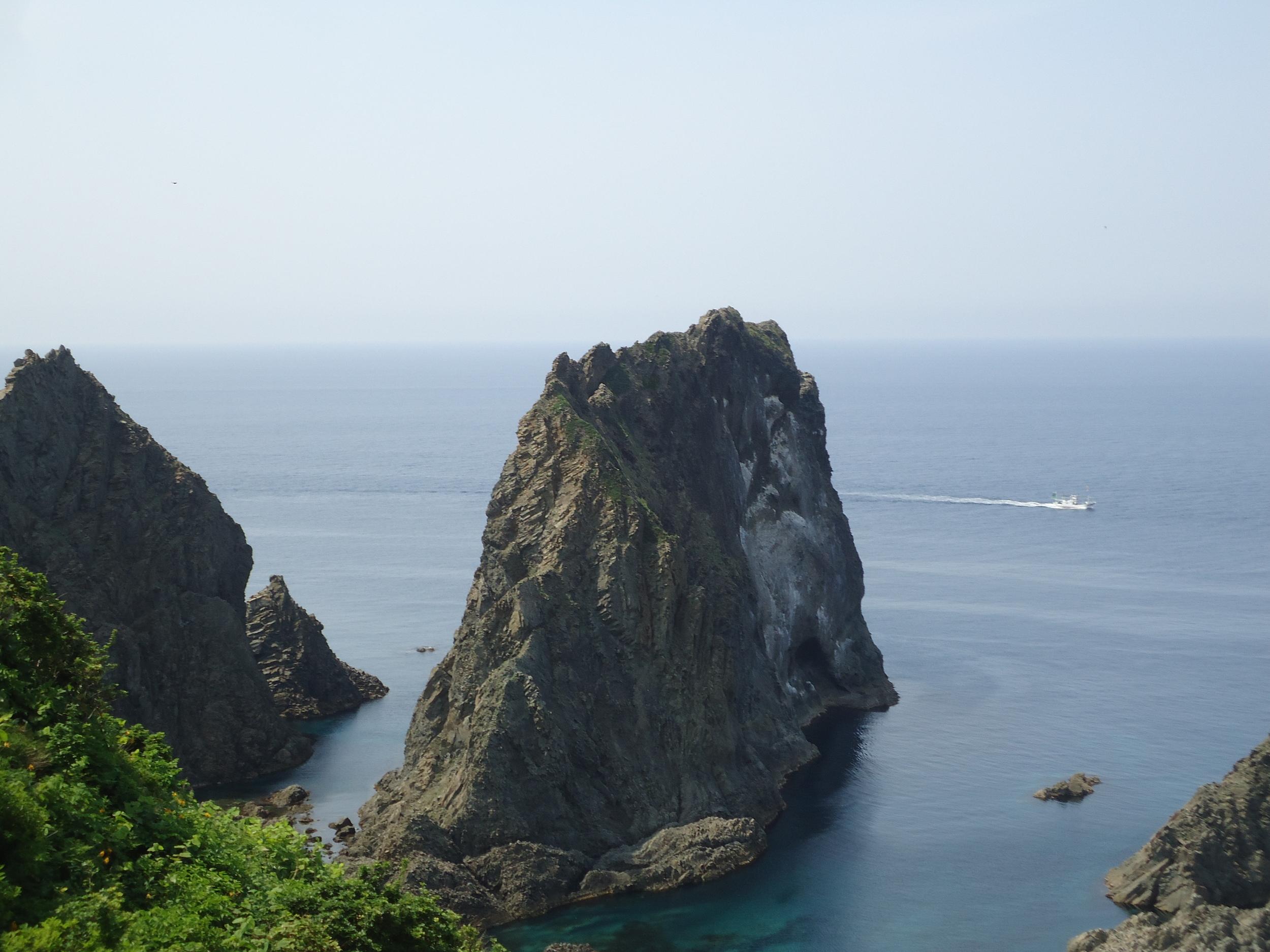 Shimamui Coast rock island