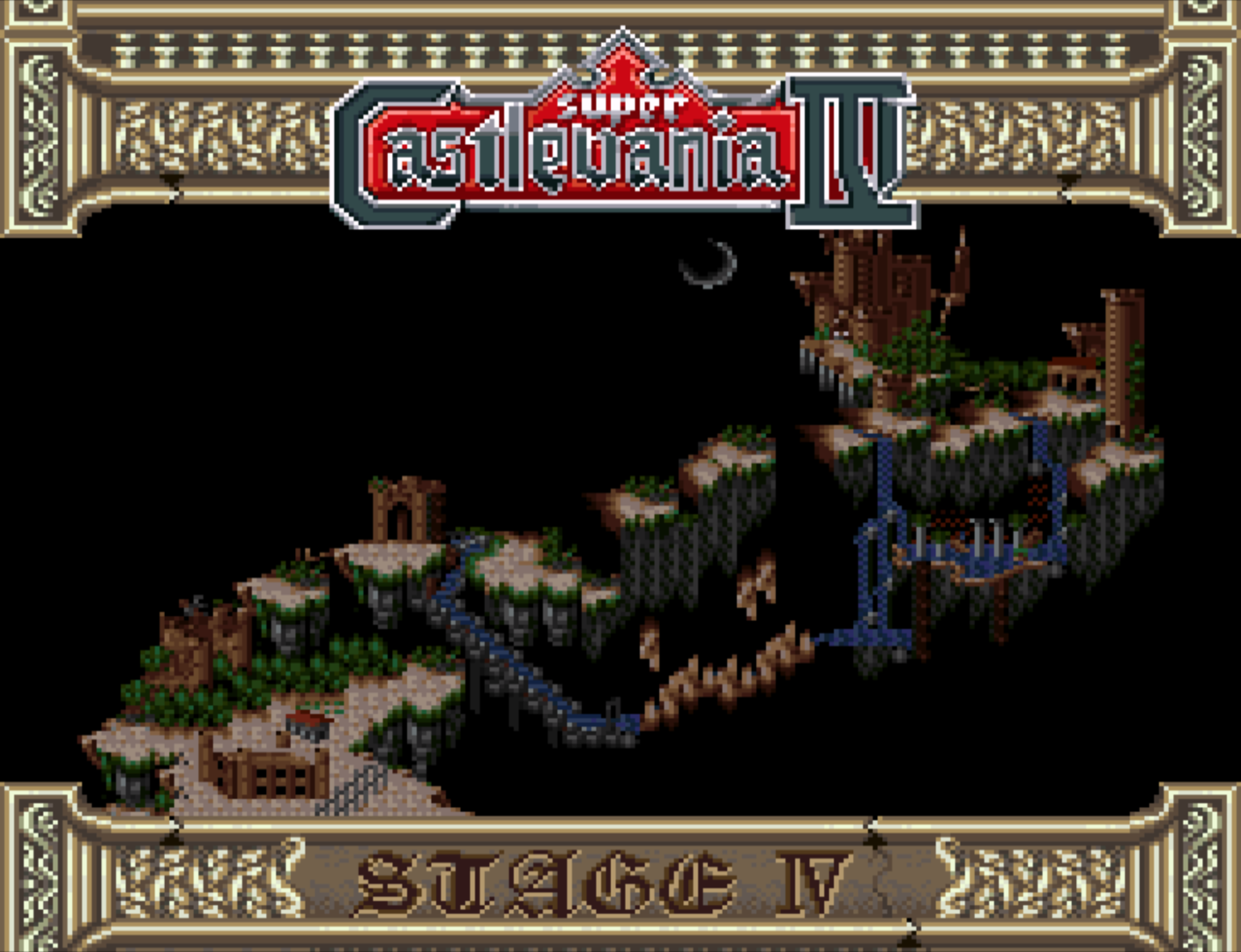 The overworld map illustrates the journey ahead.