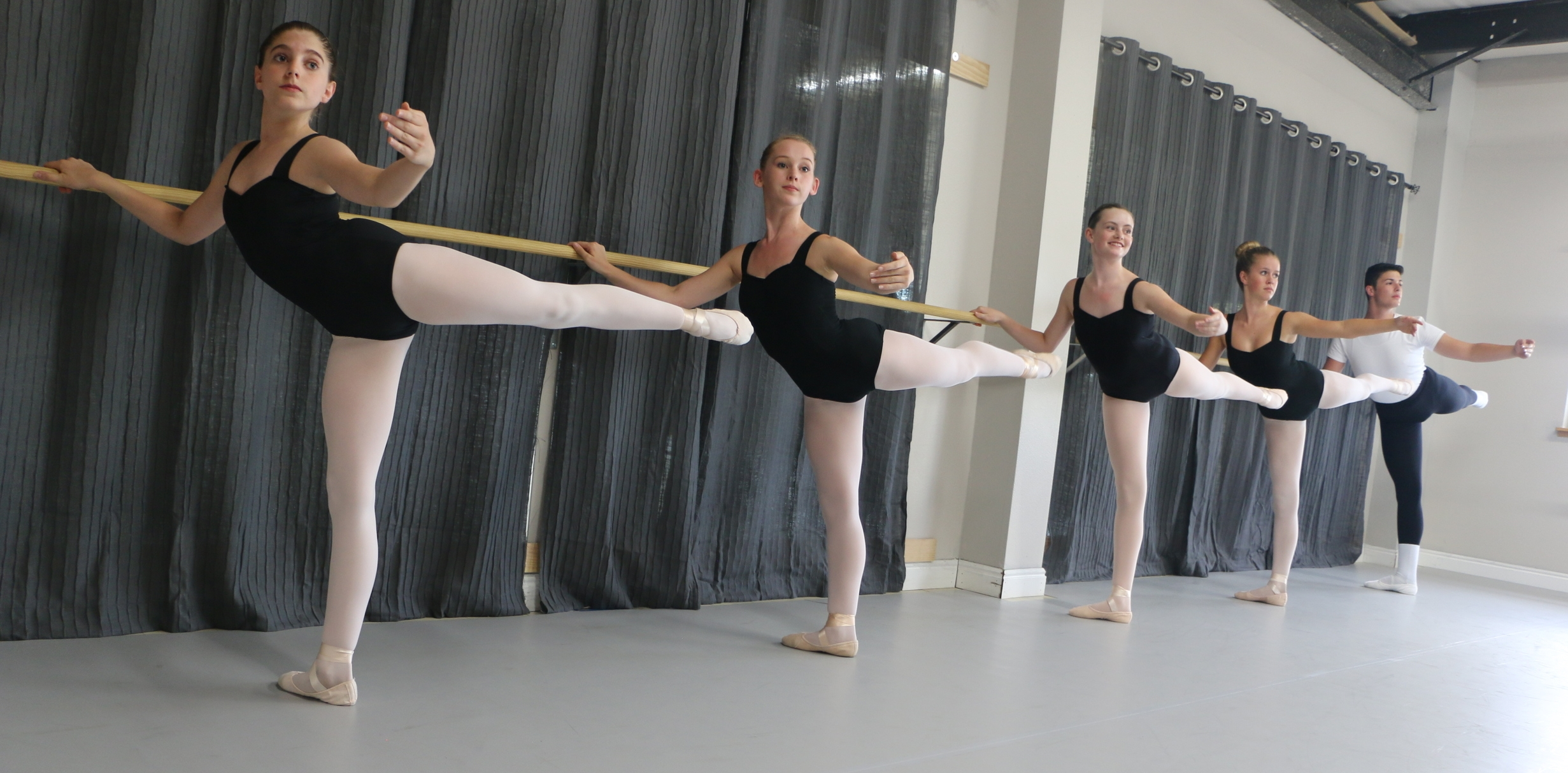 Advanced ballet class