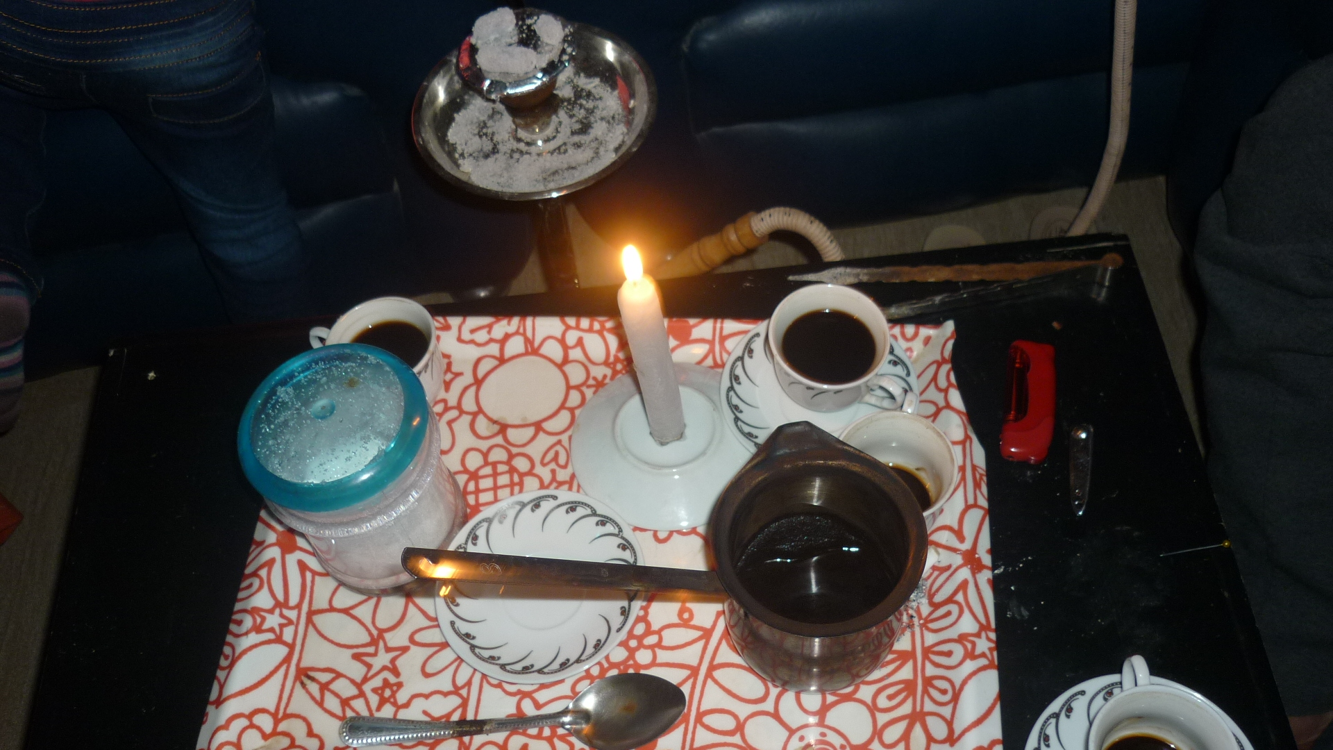 Coffee by candlelight