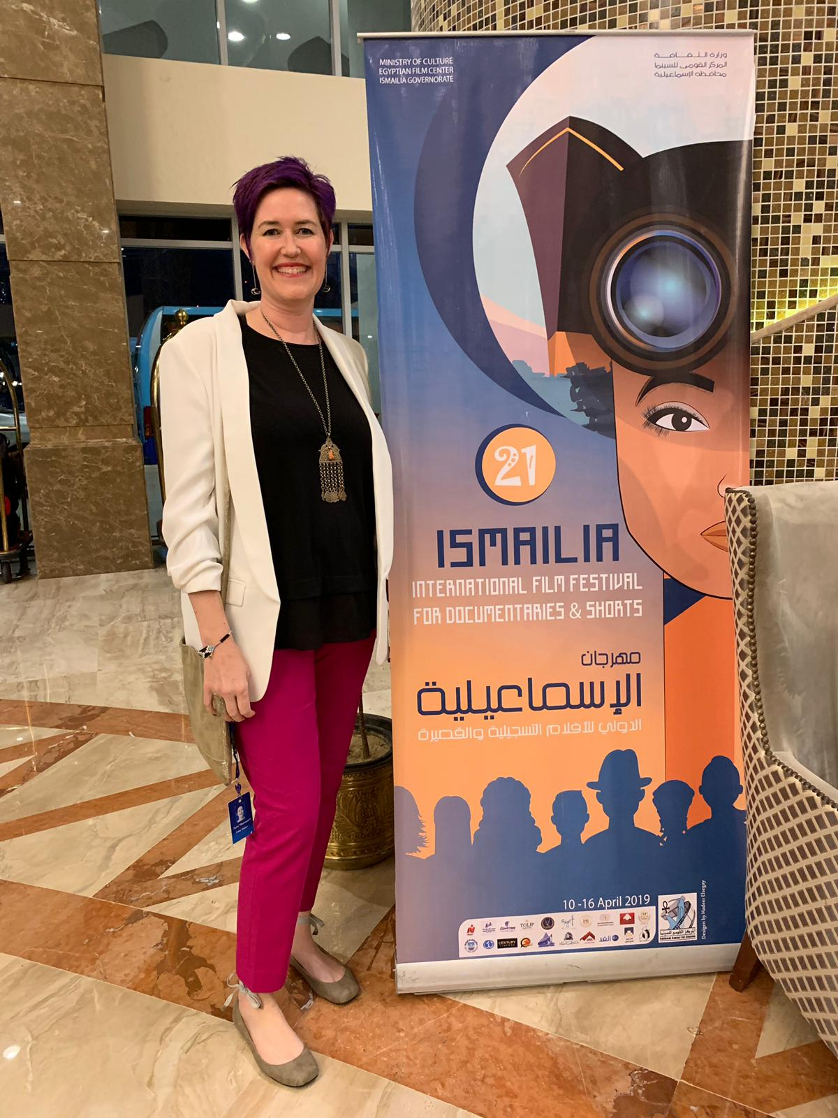 Producer/Editor Sara Maamouri at the Ismailia 21st International Film Festival in Egypt