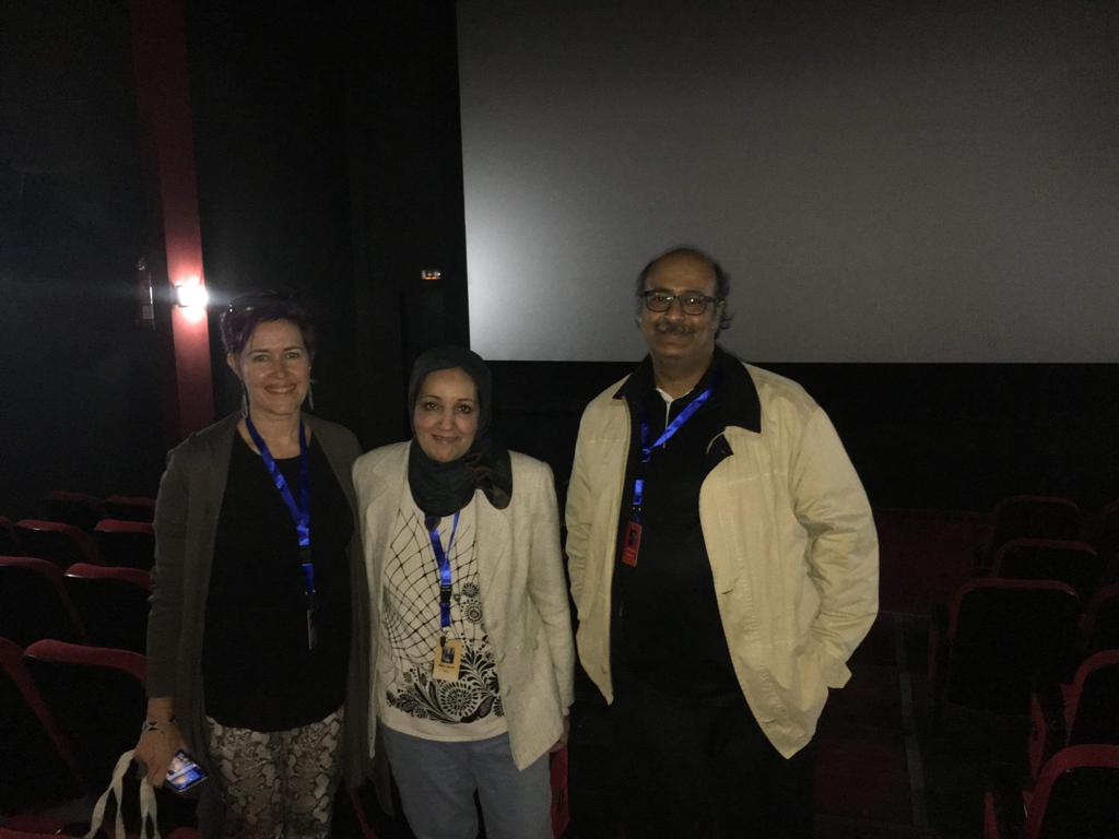 Producer/Editor Sara Maamouri and friends at the Ismailia 21st International Film Festival in Egypt