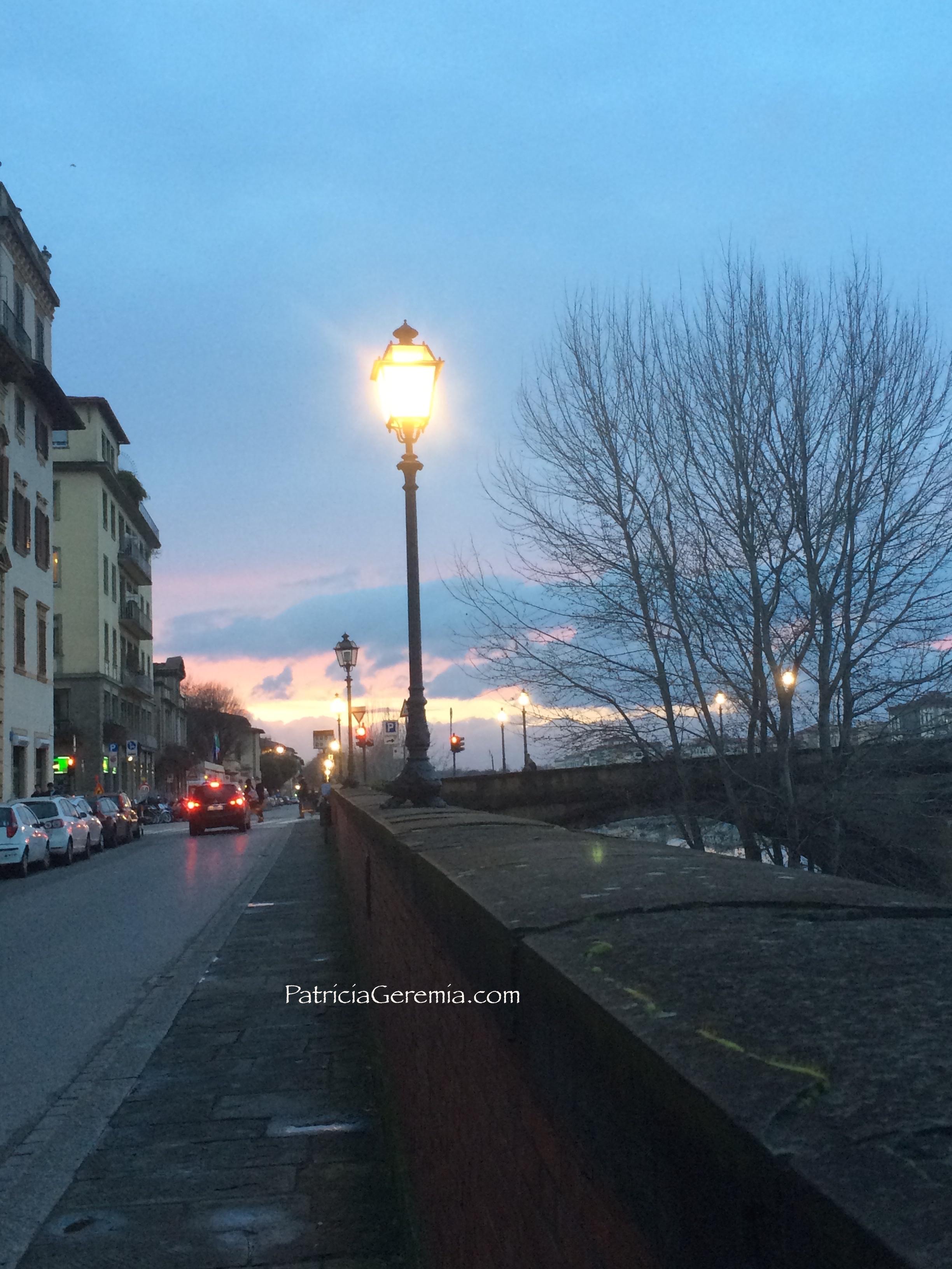 Walking along Arno at dusk.jpg