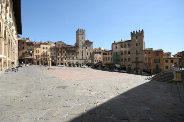 Stock photo: Piazza Grande, Arezzo