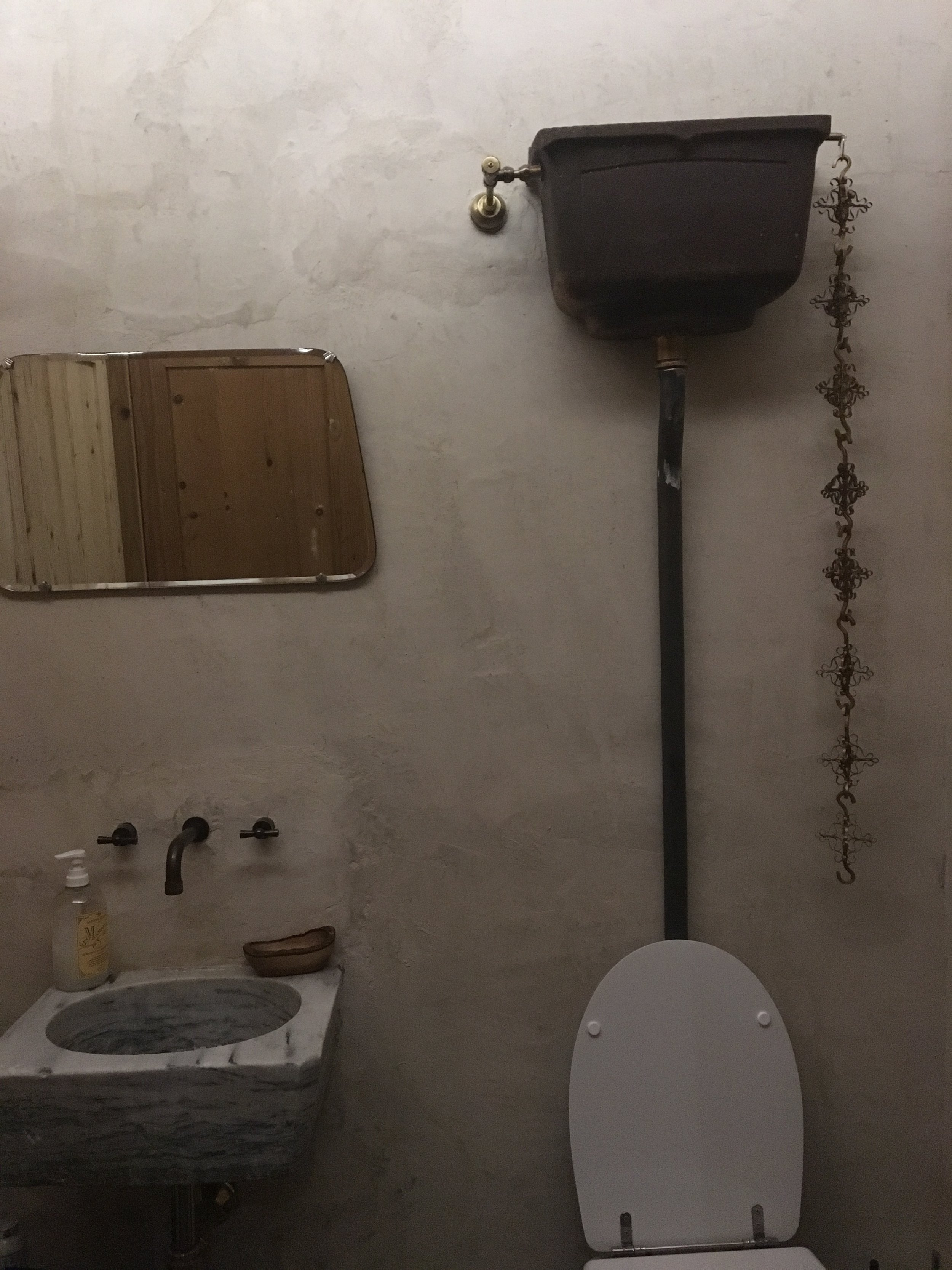 I know it's a bathroom, but by far the best toilet flush and tank I have ever seen!