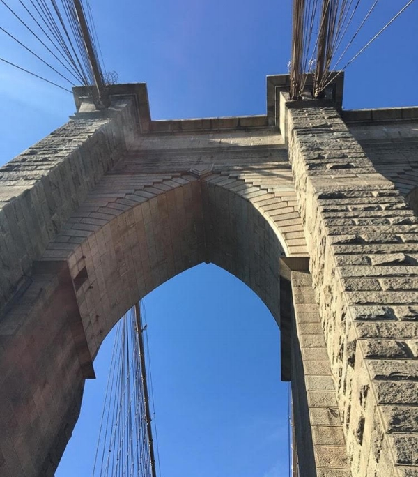 Walk over Brooklyn Bridge with the Family