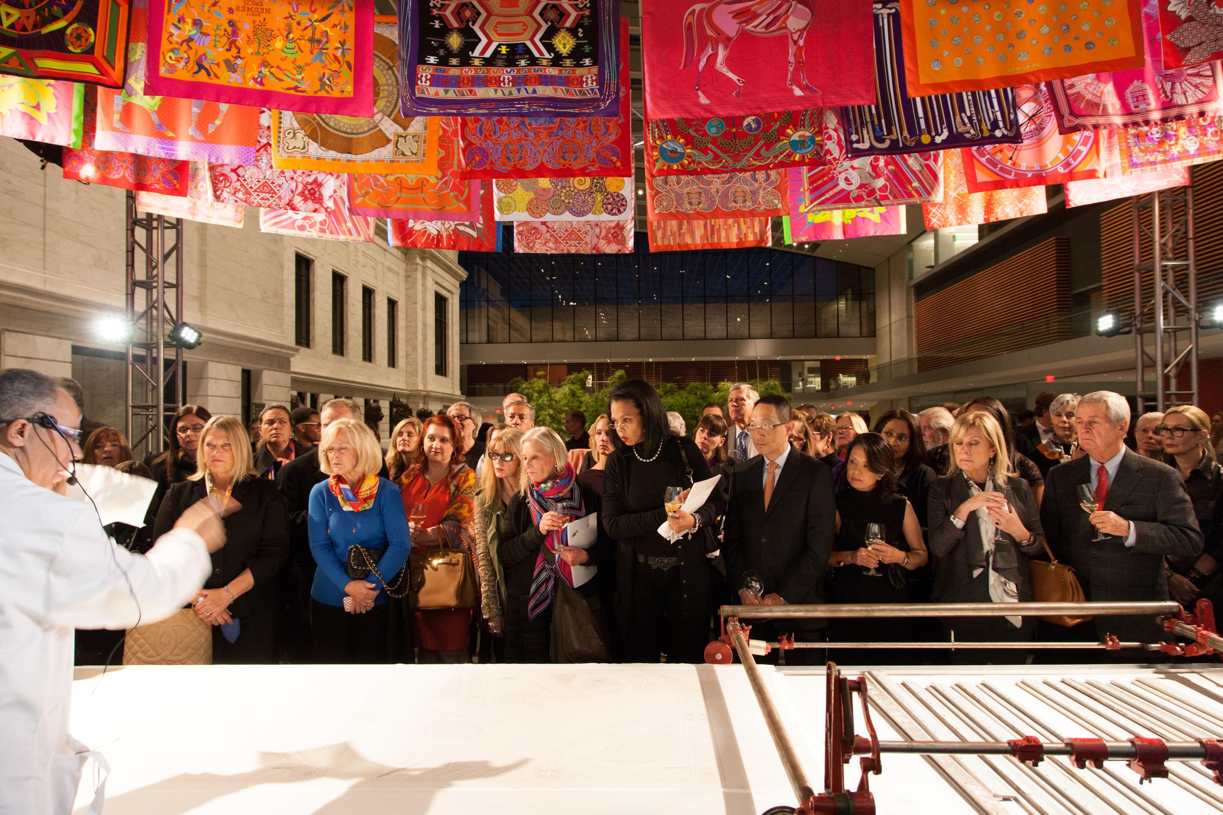 Hermes Silk Printing Exhibition & Demonstration