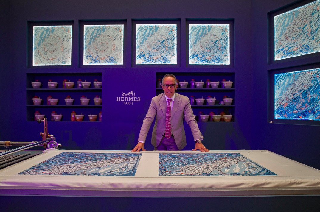 Hermes Silk Printing Exhibition & Demonstration