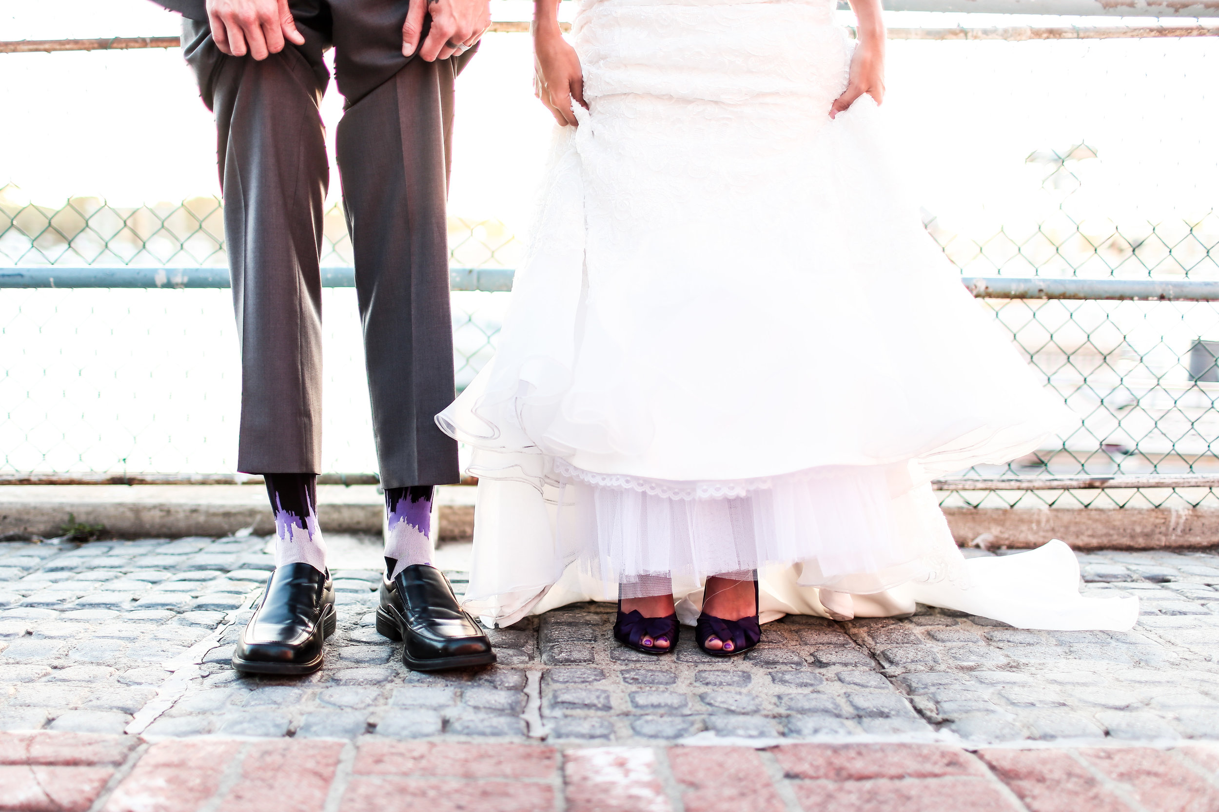Purple was the color theme at Amanda and Eric's Marina del Rey wedding.