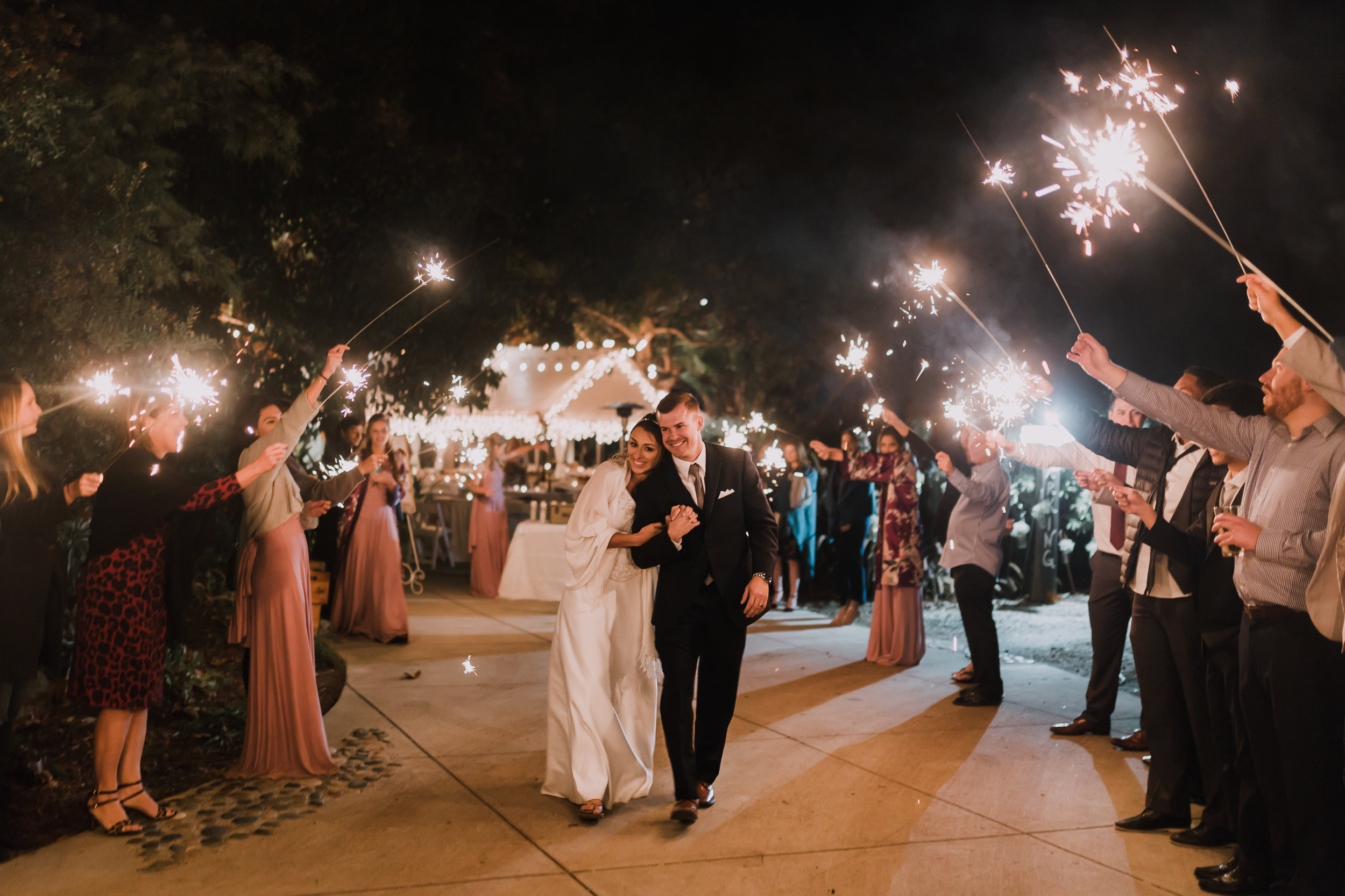 Who doesn't love a good sparkler exit! Congratulations you lovebirds!