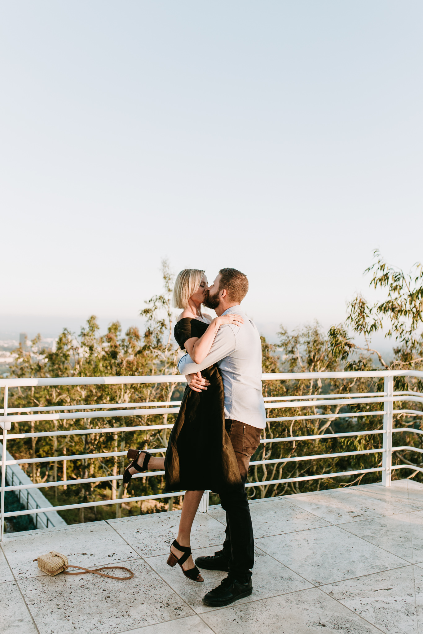 Sam & Tanner - The Getty Center, Los Angeles, CA - Sunset Proposal