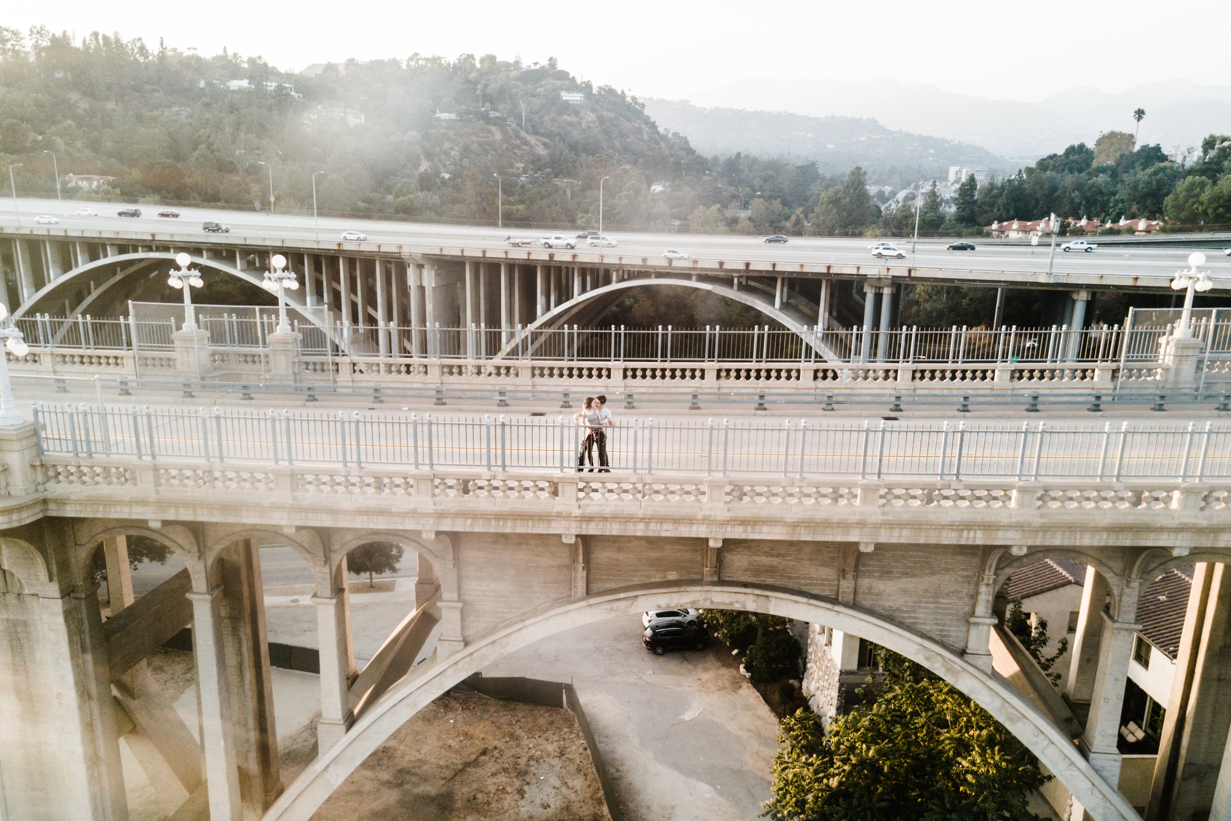 DJI Mavic Pro - Colorado Street Bridge, Pasadena, CA | Engagement Session