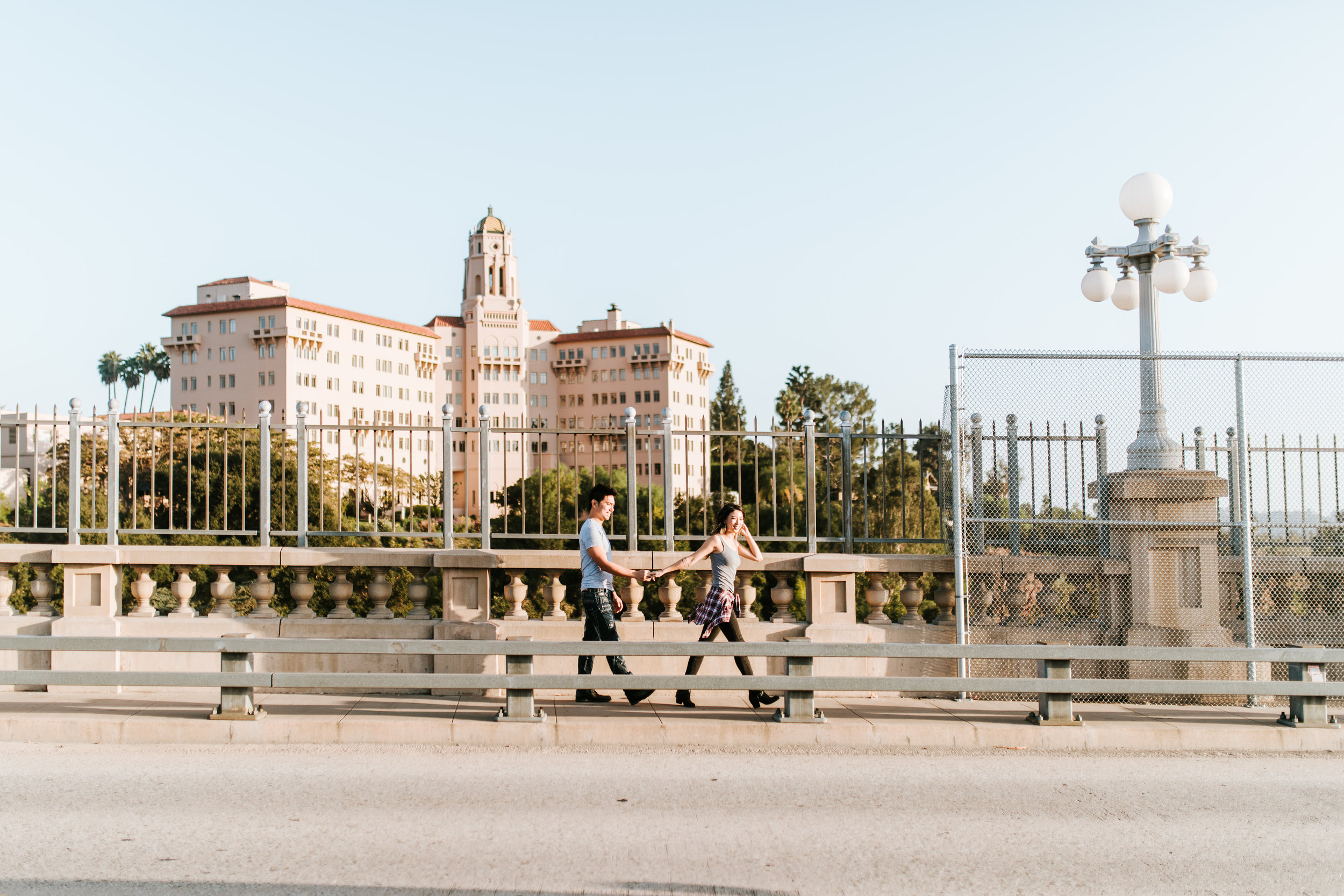 Sarah & Leonard - Colorado Street Bridge, Pasadena, CA - Engagement Session | CRM Media | www.crm-media.com