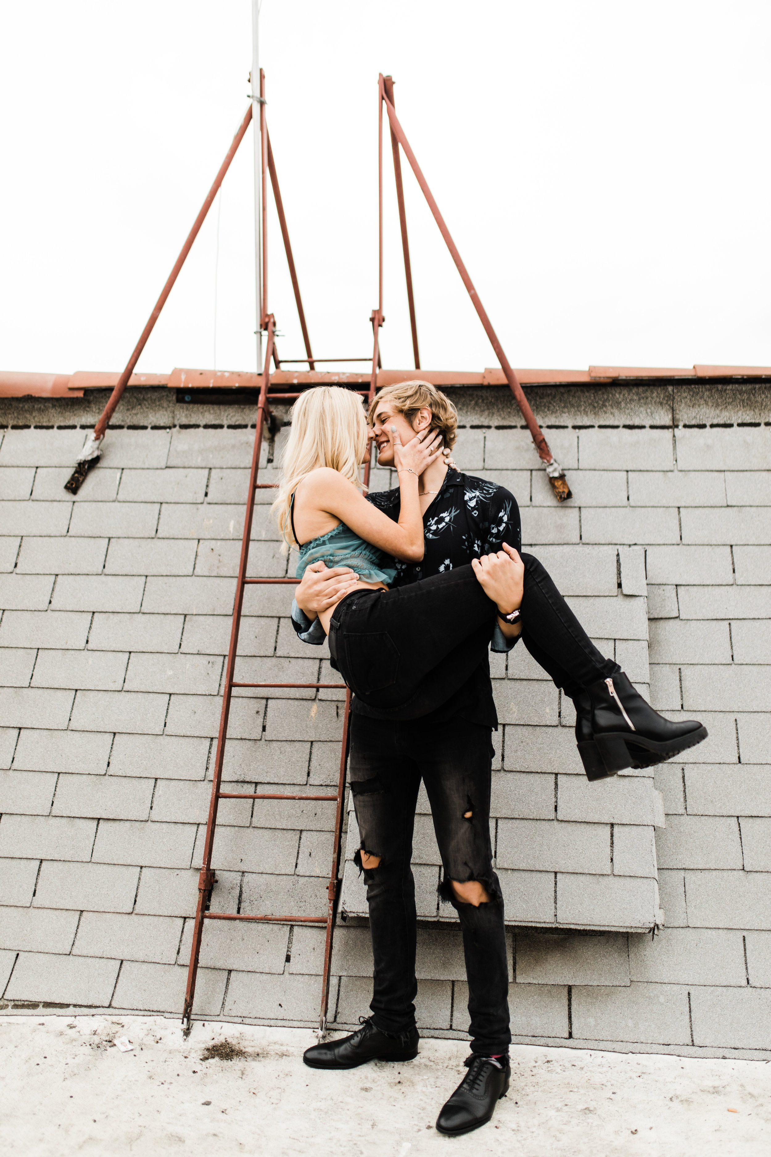 KylaLaufer&GusDeStJeor-Couples-Session-Los-Angeles-Rooftop-Sunset-Clarisse-Rae-Southern-California-Wedding-Photographer_6