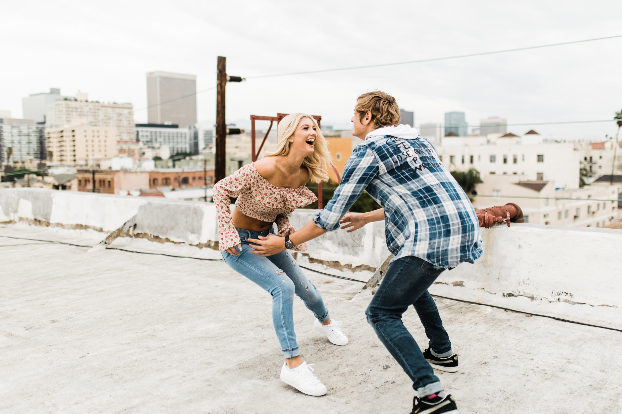 KylaLaufer&GusDeStJeor-Couples-Session-Los-Angeles-Rooftop-Sunset-Clarisse-Rae-Southern-California-Wedding-Photographer_10