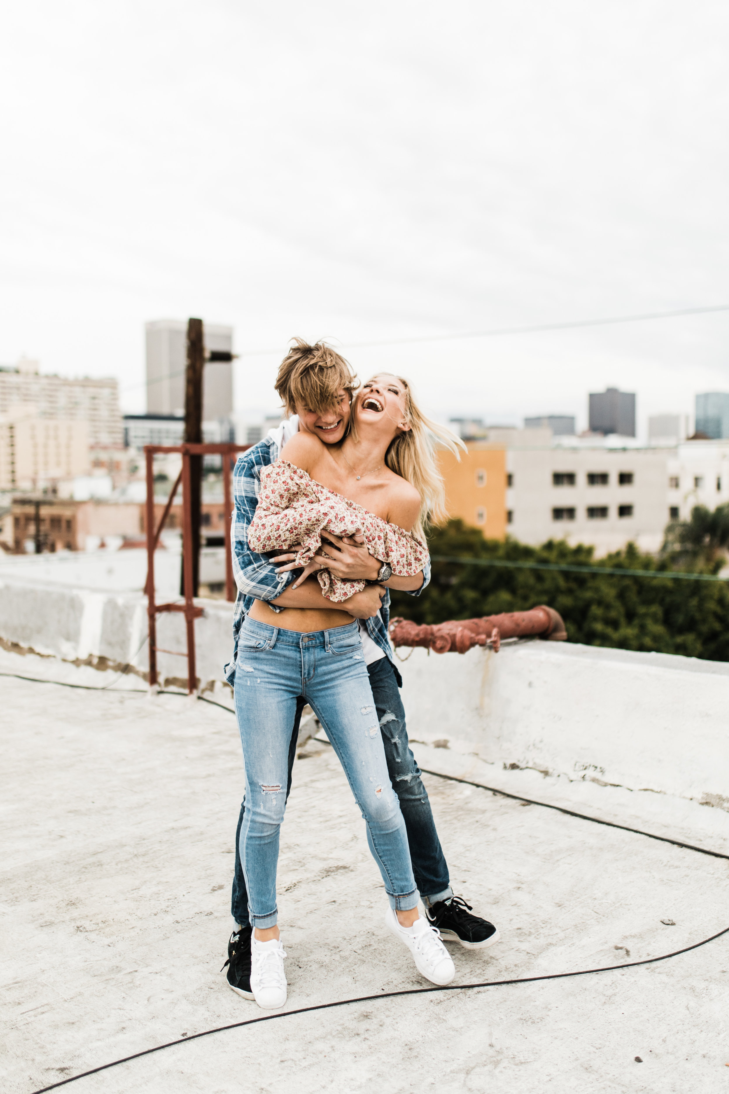 KylaLaufer&GusDeStJeor-Couples-Session-Los-Angeles-Rooftop-Sunset-Clarisse-Rae-Southern-California-Wedding-Photographer_9