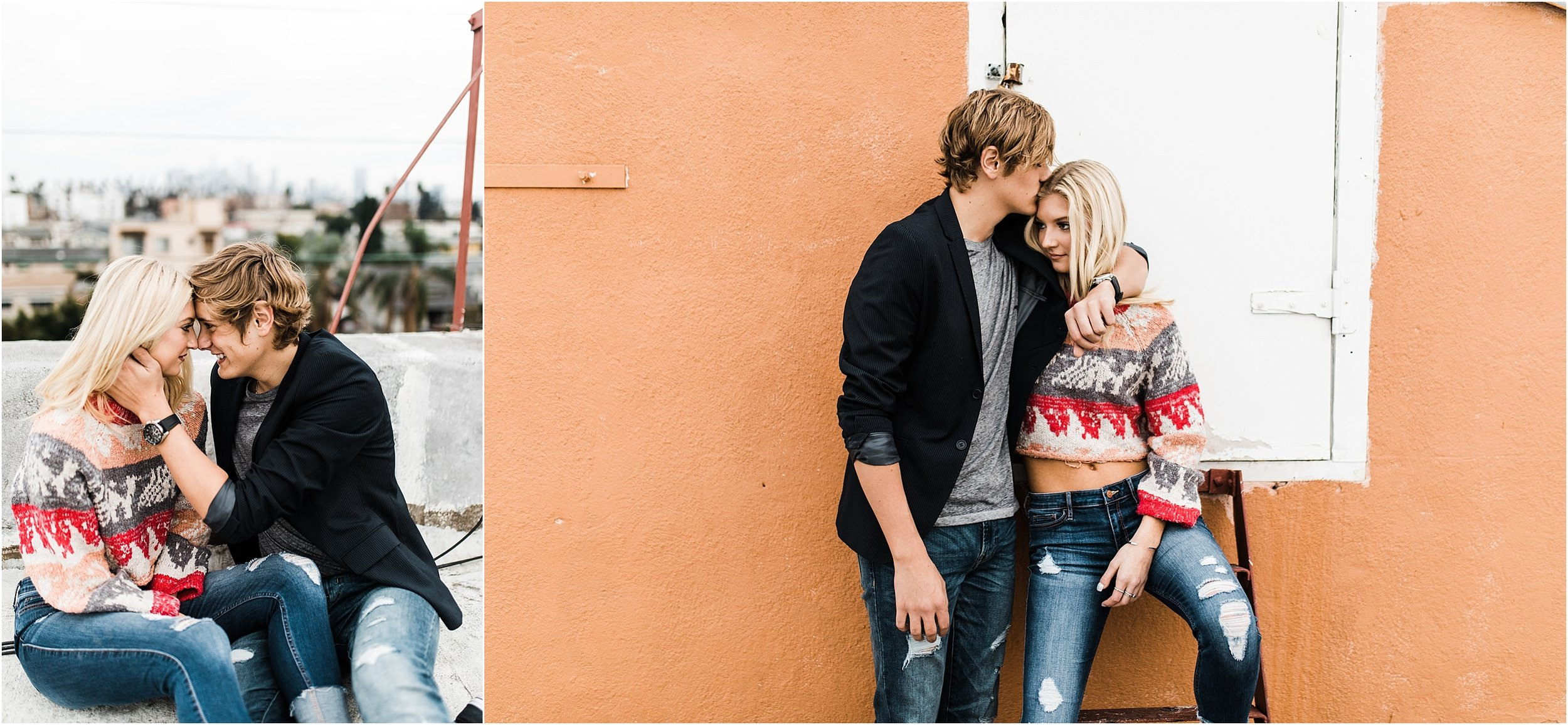 KylaLaufer&GusDeStJeor-Couples-Session-Los-Angeles-Rooftop-Sunset-Clarisse-Rae-Southern-California-Wedding-Photographer_14