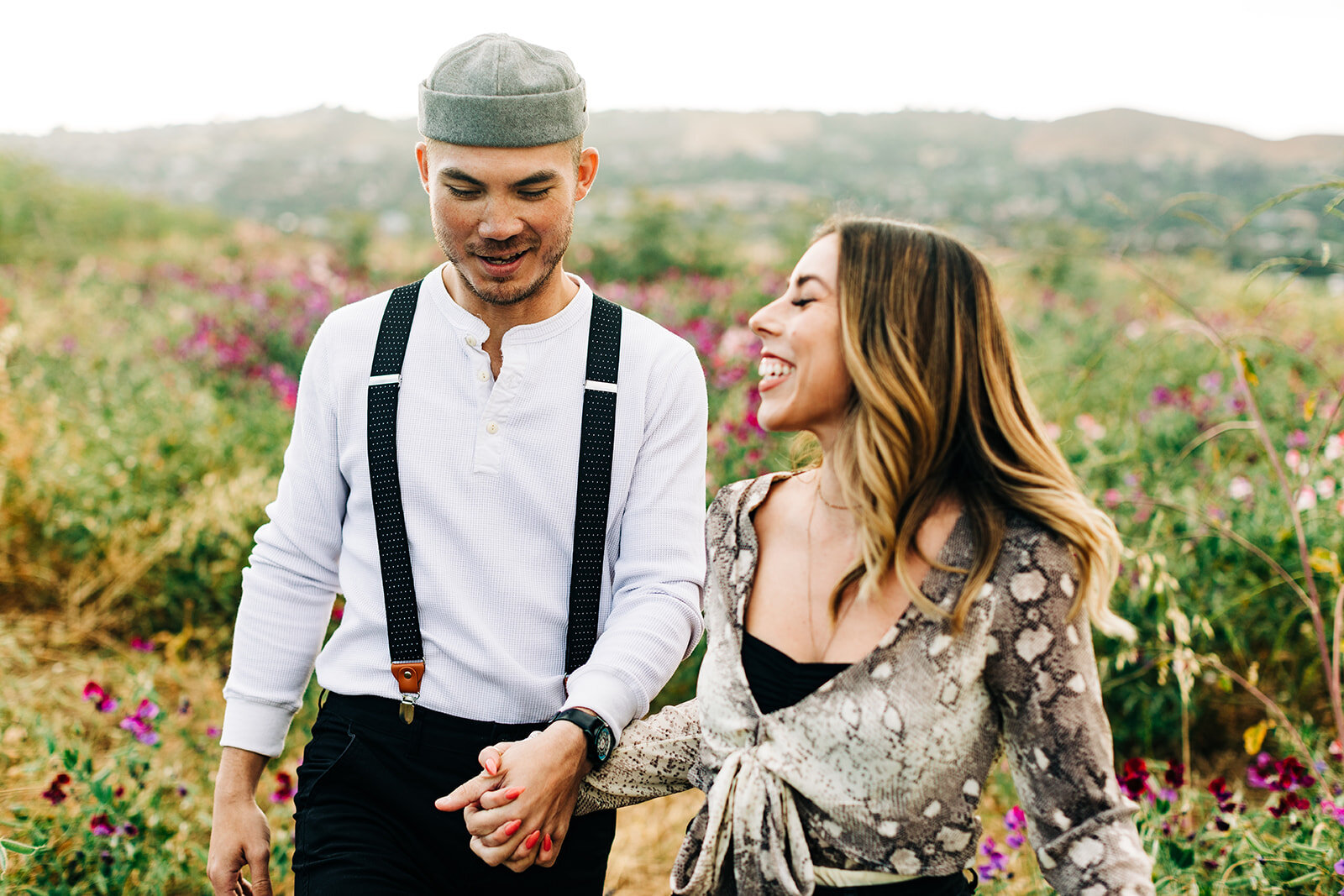 Southern California Wedding Photographer & Videographer | Engagement Photos in the Sweet Pea Flower Fields in Orange County, CA | www.clarisserae.com