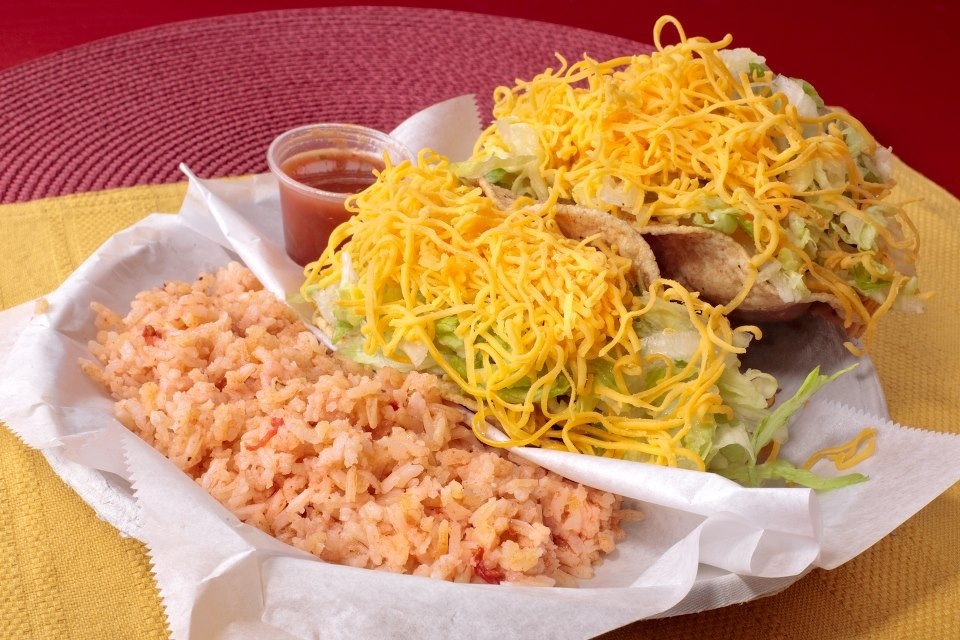 #2 Value Meal: 2 Tacos, Beans  or  Rice