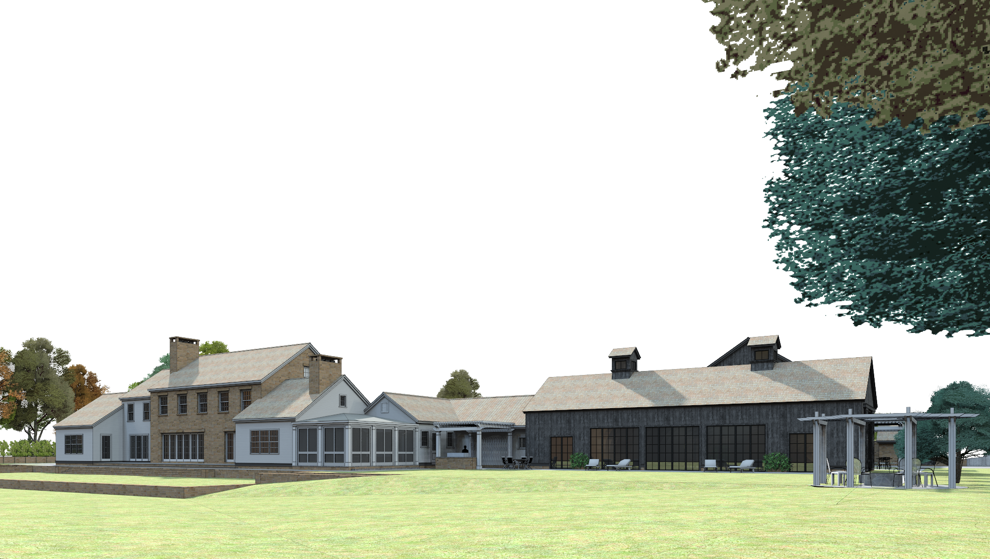 3d rendering: north view