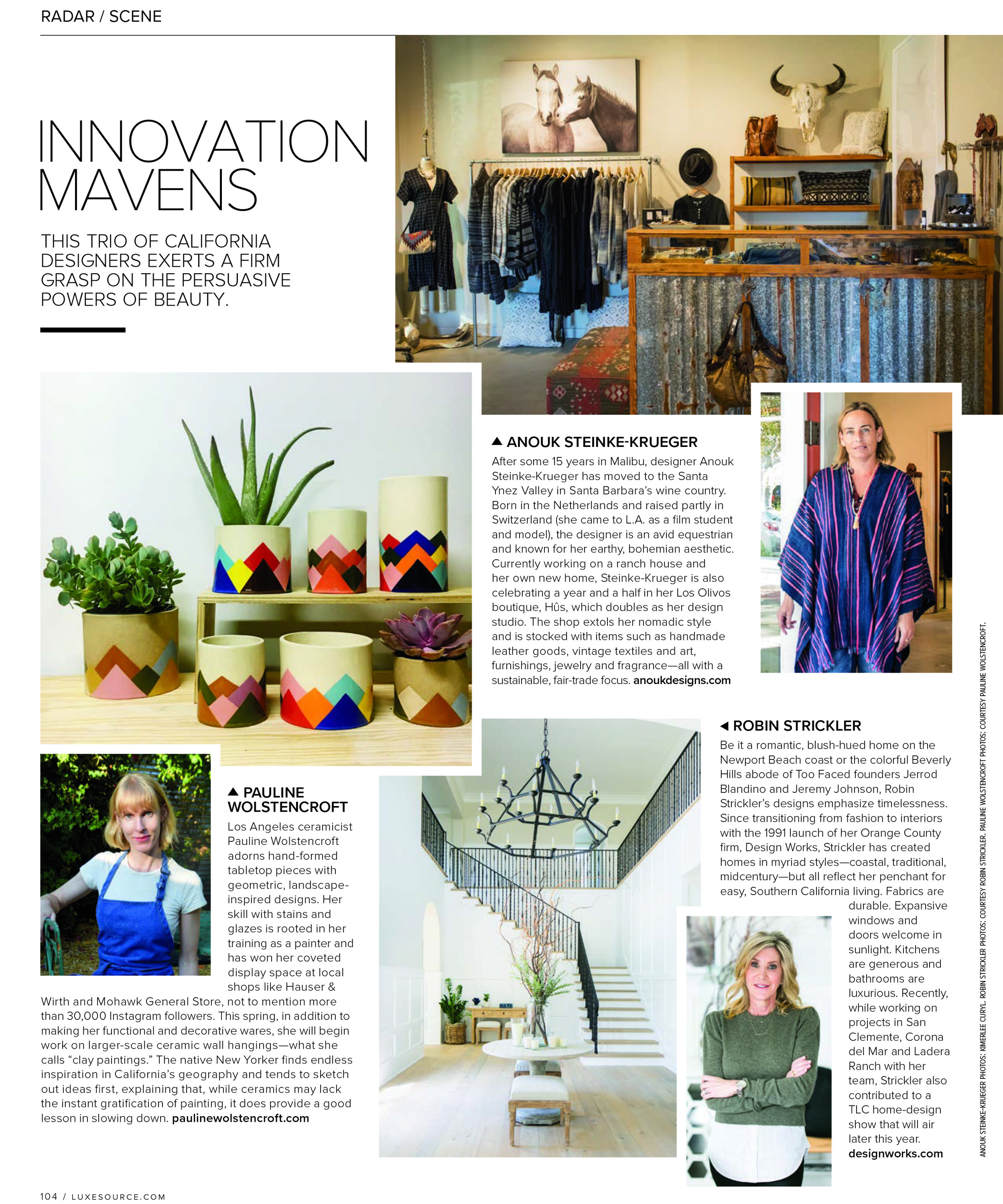 Luxe Interiors & Design, May/June 2019