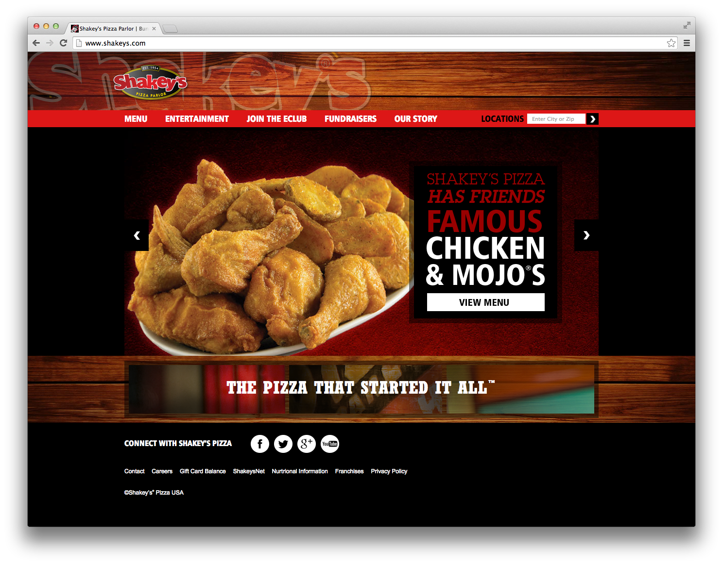 Shakeys-Browser-Home
