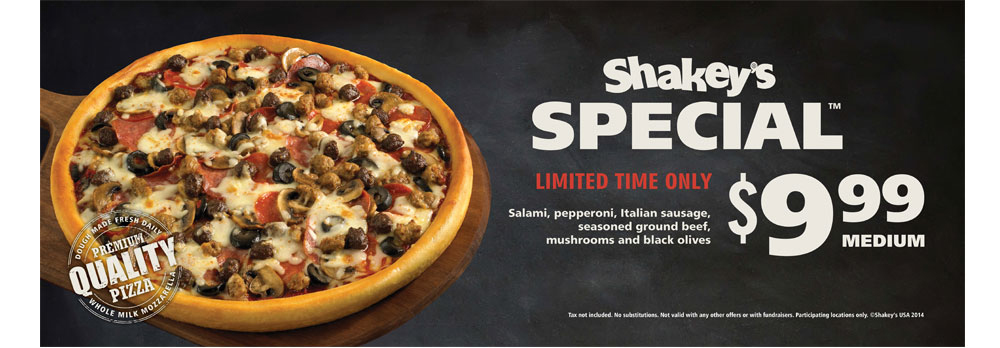 Shakey's Special - Point of Sale, exterior banner