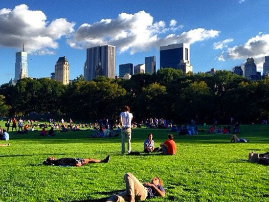 Spending your day in Central Park will make you wish it were always Monday.
