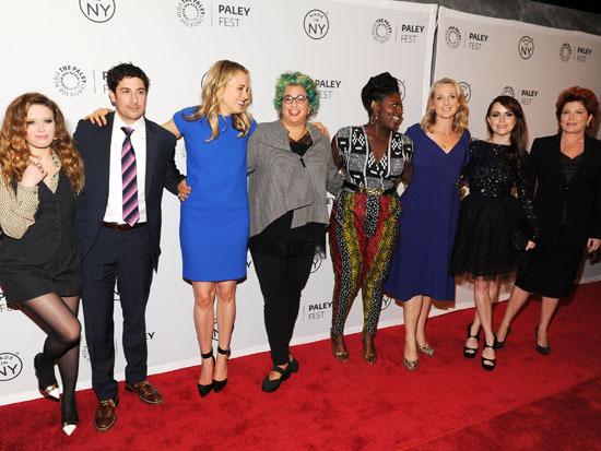 Natasha Lyonne, Jason Biggs, Taylor Schilling, Jenji Kohan, Danielle Brooks, Piper Kerman, Taryn Manning, and Kate Mulgrew at the 2013 PaleyFest: Made In New York.