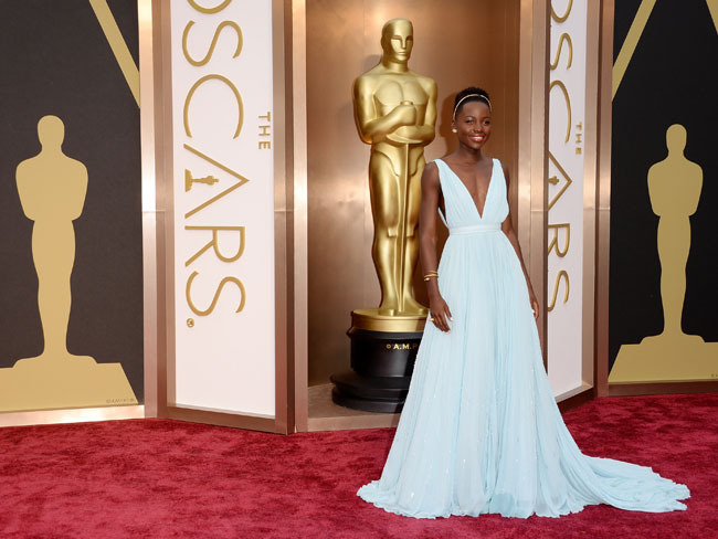 Lupita Nyong'o's 2014 fashion statements included this Prada number at the Academy Awards