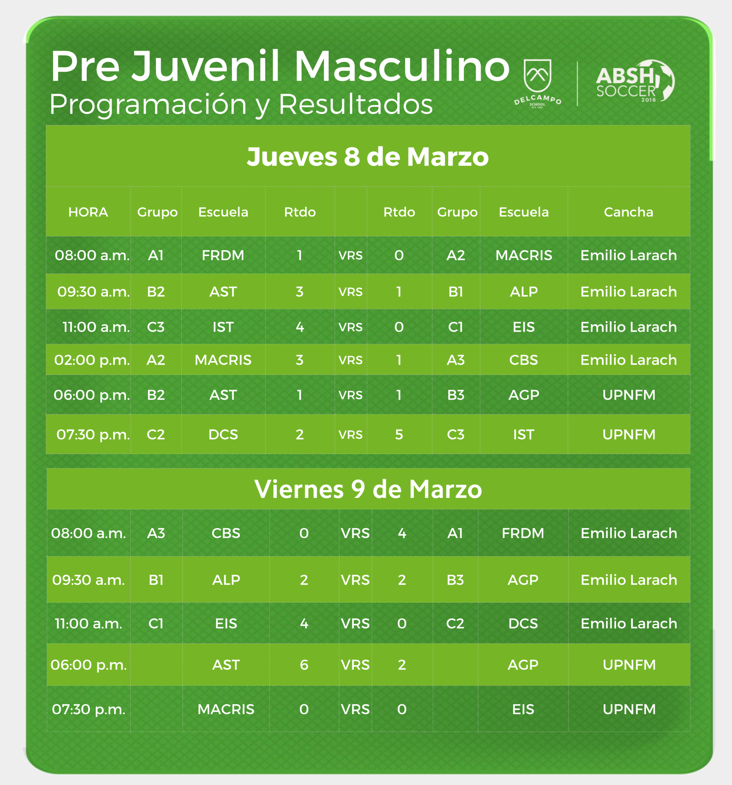 PRE JUVENIL MASCULINO