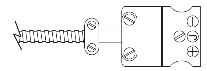 Termination Style 4 Standard Jack (cable clamp shown, but not provided as standard)