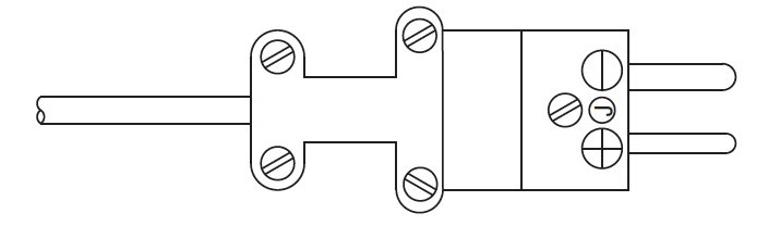 Termination Style 5 Miniature Male Plug (cable clamp shown, but not provided as standard)
