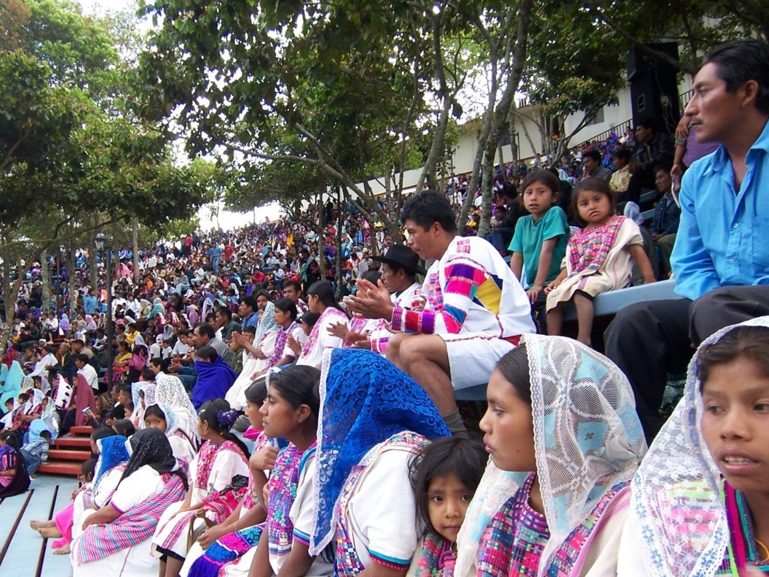 Thousands of believers gather at the outdoor stadium built by Mexico Ministries for ongoing conferences and worship services in Chiapas.
