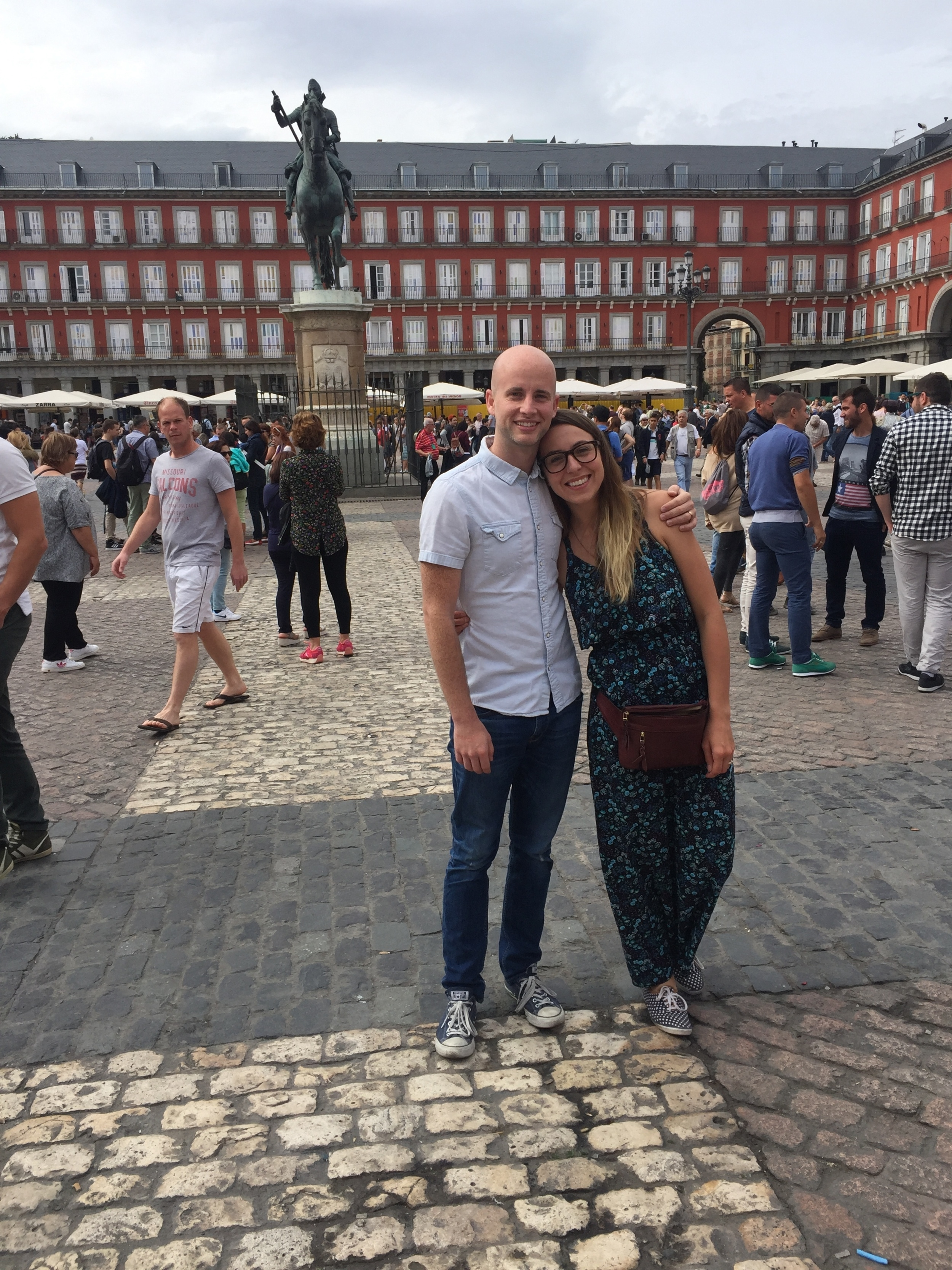 This is Plaza Mayor which is one of the many Plazas of Madrid