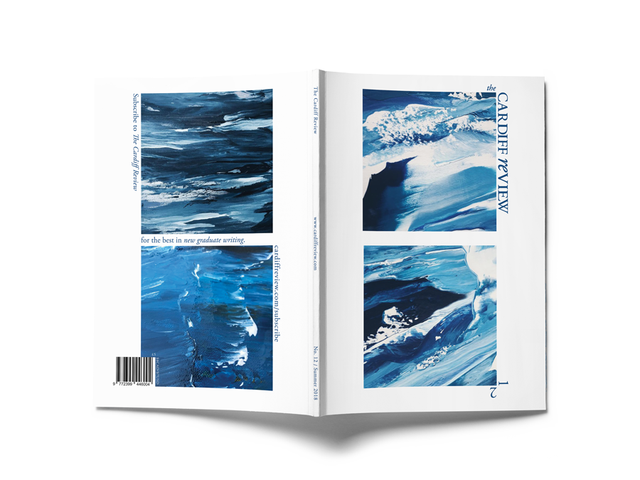Cover Design - Collaborating with Jamie Gillingham of The Cardiff Review, we used artwork from the art series 'It Comes In Waves' by SPACE BOY, to represent their Summer Issue 2018.