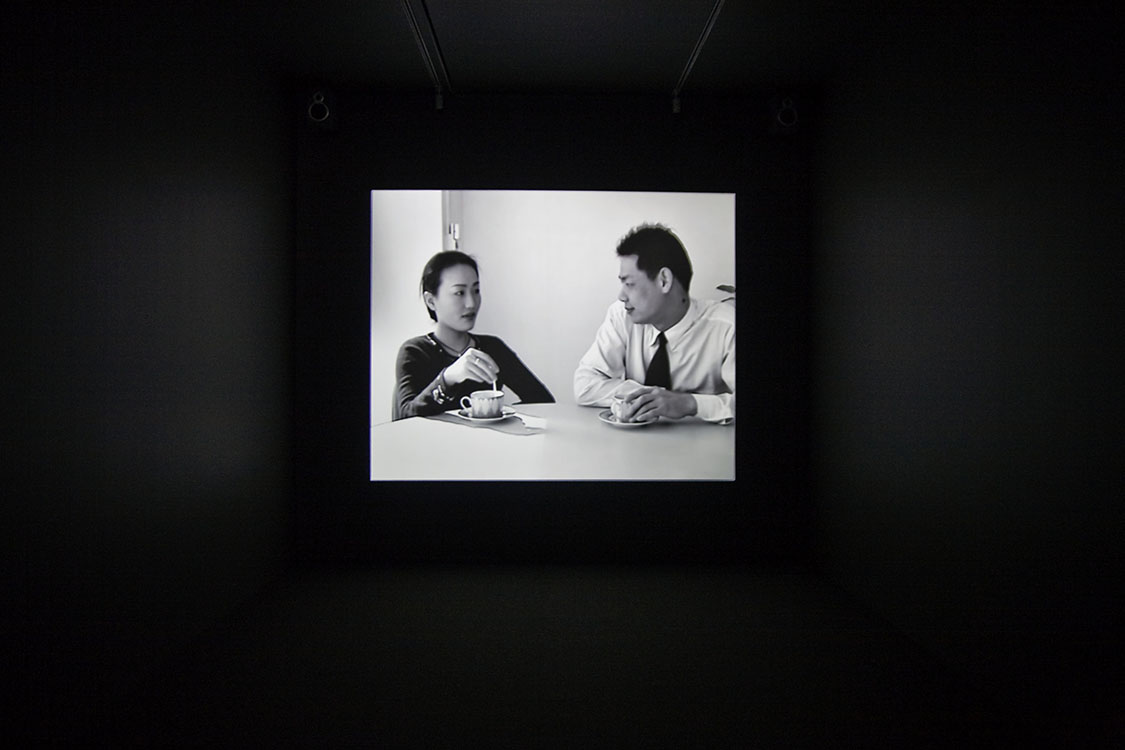 Yang Fudong,   City Light   (film still), 2000.   Color video with sound, 6 minutes. Installation view at the Museum of Contemporary Art Denver, January 13 - May 3, 2009. © Yang Fudong.