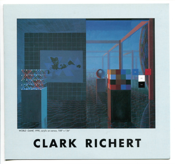Clark Richert: Non/Euclidean Walks  exhibition brochure with essay.  See full brochure.