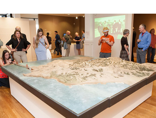 Installation view of Unbuilt SF with Model of Marincello Development  , 1967 . Wood, plaster, plastic, paint, architectural flocking and other medium . Courtesy of National Park Service, Golden Gate NRA, GOGA-1701