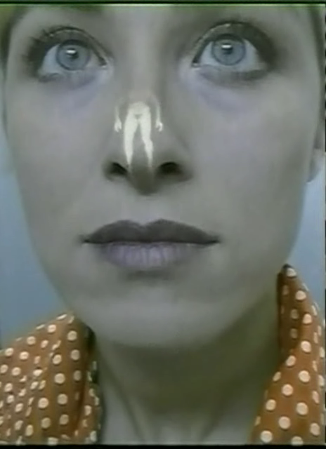 Pippiloti Rist,  Aujourd' Hu i (video still), 1999, video installation with overlapping projections.