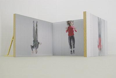 Peter Welz & William Forsythe,  The Fall  (installation view), 2003-04, video installation. 30 minute loop on DVD, running at random variables.