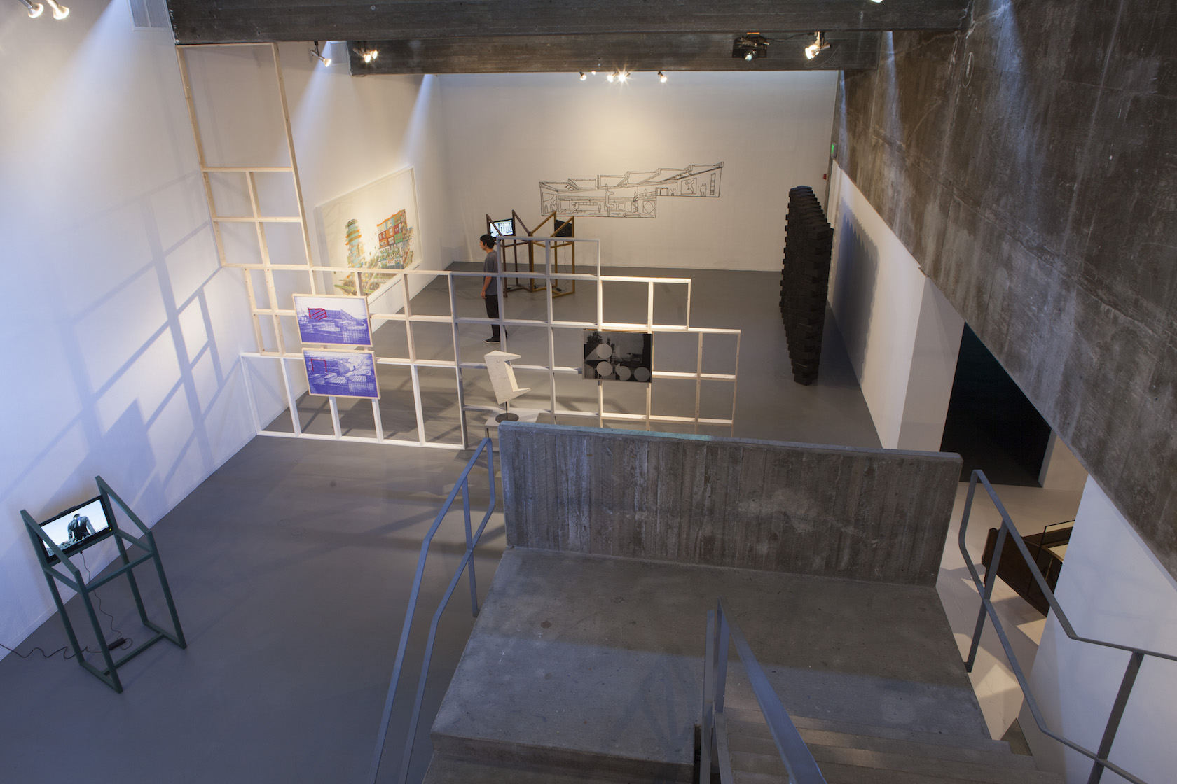 Installation view of  Temporary Structures  at Walter and McBean Galleries, San Francisco Art Institute, September 14 - December 15, 2012.