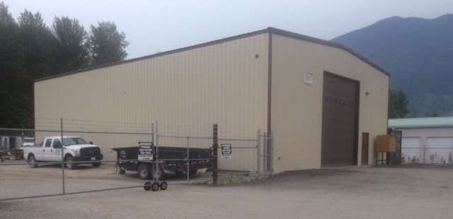 New maintenance building completed at Pemberton Industrial Park.